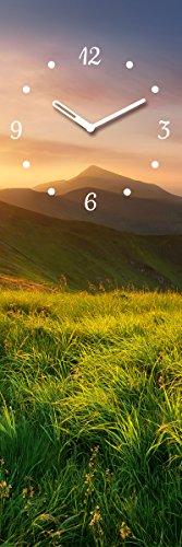 Eurographics 20x60 Sunrise In Mountain Valley, Glas, bunt, 20 x 60 x 3,5 cm