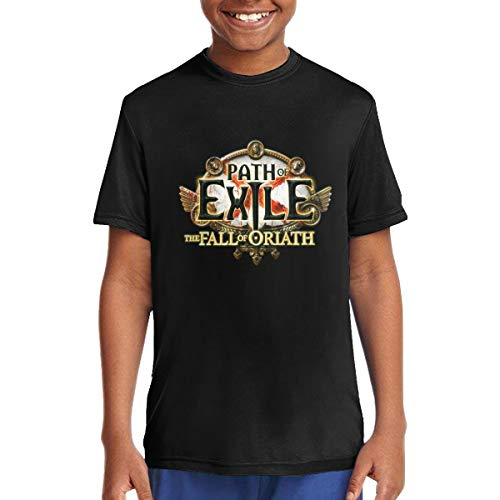 Thomas C Gaona Path of Exile The Fall of Oriath Adolescent Summer Round Neck Tops Short Sleeve T Shirt Black