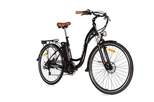 Moma Bikes Bicicleta Electrica, Urbana EBIKE-28 ', Alu. SHIMANO 7V & Doble Freno Disco Bat. Ion...