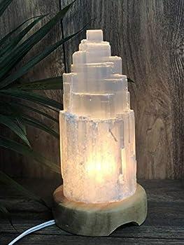 8  Selenite Lamp W/Cord Selenite Tower Lamp Crystal Lamp Gemstone Mountain Lamp RS-201