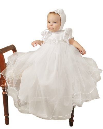 Big Sale Shanna 6 Month Girls Christening Baptism Blessing Gowns for Girls, Made in USA