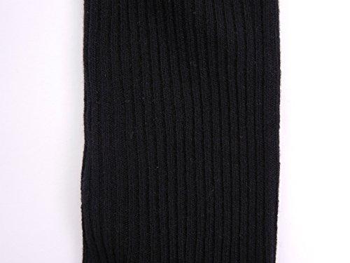 フィロワ ベビー 子供用無地リブスパッツ 10分丈 黒 105cm レギンス