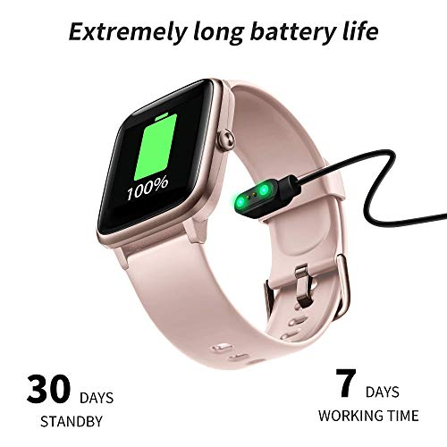 Smartwatch Donna, Orologio Fitness Tracker Impermeabil IP68 Cardiofrequenzimetro Sonno salute delle donne Contapassi Cronometro Notifiche Messaggi Controller Musicale Regalo per la festa della mamma