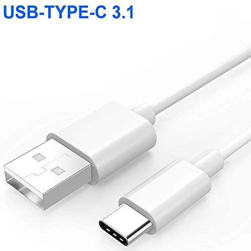 tomaxx USB Typ C Weiss Kabel Datenkabel USB 3.1 A Type C Ladekabel SuperSpeed bis 5 Gbit/s passt für Ulefone Armor 5S, Armor 6S, Armor 3W, TCL PLEX, CUBOT X19 4G LTE, MAX 2, R19, R15 Power Smartphone