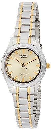 CASIO 19032 LTP-1275SG-9A -Reloj Señora Cuarzo Brazalete metálico dial Dorado