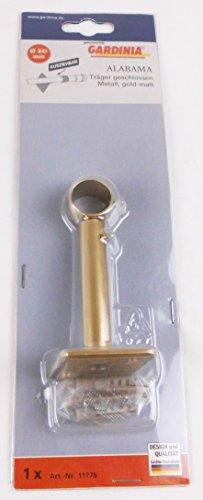 Träger , Gardinia 20 mm Alabama, Farbe Gold Matt, Alu Gardinenstange,