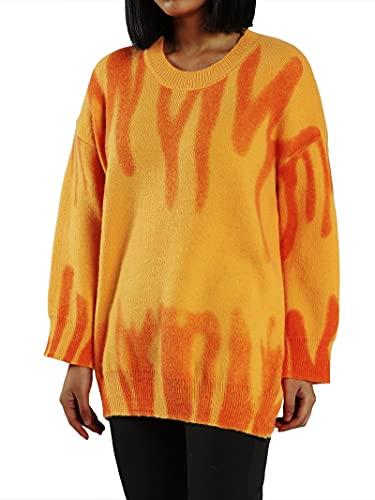 Suéter de punto de gran tamaño con cuello redondo y manga larga para mujer Y2K E-Girls Jumper Top
