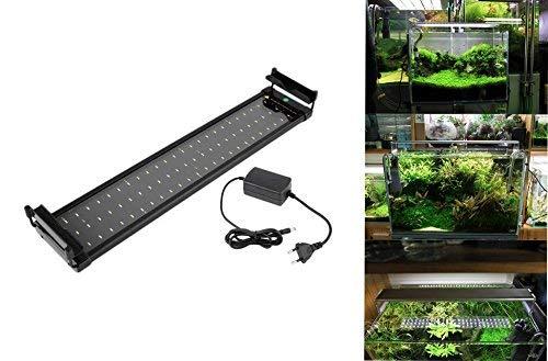 takestop® lamp dee-60 Aquarium Dolce 24 W licht uittrekbaar 48 LED's voor aquarium rand badkuip verstelbaar 60-80 cm