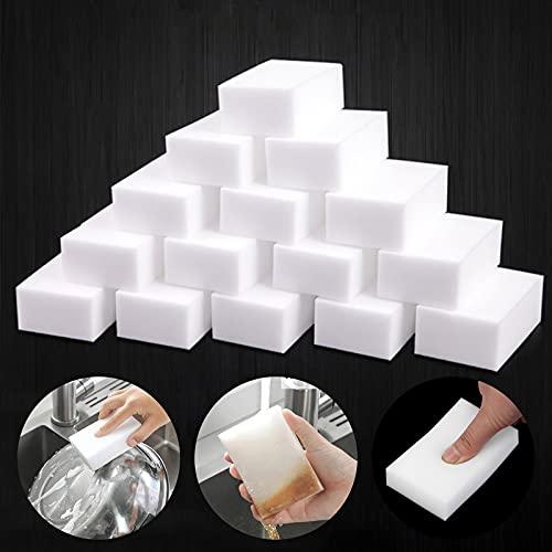 Paquete de 20 esponjas mágicas de goma de borrar de esponja, esponjas de melamina extra gruesas a granel para limpiar marcas de cubierta, cocina, baño, piso y pared esponja de goma duradera