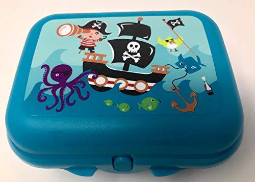 Tupperware to Go Twin türkis Aqua Pirat Schiff Brotdose Box Behälter Kindi Twin Größe 2