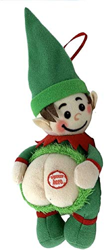 Farting Elf Christmas Ornaments-Funny Christmas Tree Decoration-Stocking Stuffer-Naughty But Nice Gag Gift-He Farts The Song Deck The Halls When You Press His Body-Measures 4x10 Inches