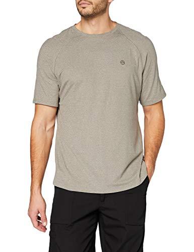 All Terrain Gear by Wrangler Mens Short Sleeve Performance T-Shirt, Brushed Nickel, M