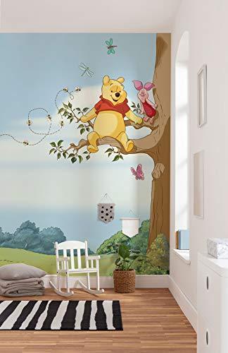Komar Disney Fototapete Winnie Pooh Tree | Größe: 184 x 254 cm (Breite x Höhe) | Baby, Tapete, Kinder, Wand, Kinderzimmer, Dekoration - 4-4116