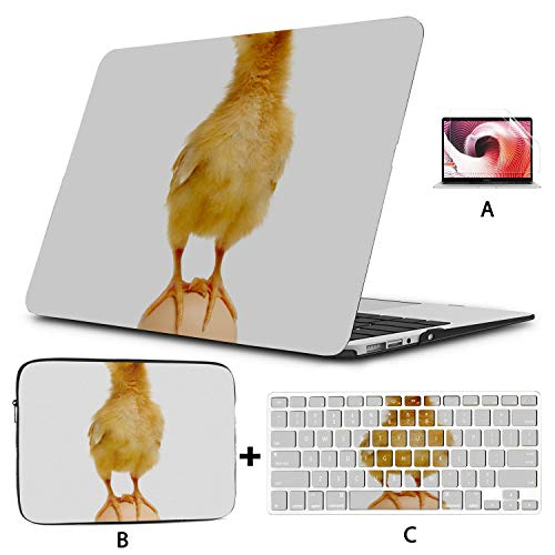 Mac Book Pro Cover Lovely Small Chicken Case for MacBook Air Hard Shell Mac Air 11'/13' Pro 13'/15'/16' with Notebook Sleeve Bag for MacBook 2008-2020 Version