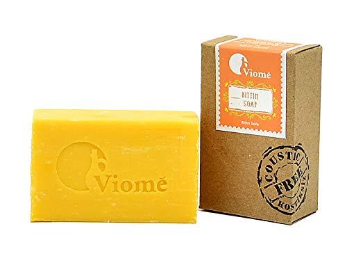 Viomé | reine Bittim Seife, 100% natürliche Seife, handgefertigt, ohne Palmöl, vegan, Anti-Schuppen Effekt | 125g