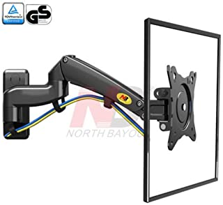 North Bayou TV Monitor Wall Mount Bracket Full Motion Articulating Swivel Mount for 30-40 Inch Flat Screen TV with Gas Spr...