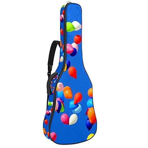 Globos de colores, Guitarra Gig Bolsa de Llevar Caso de Protección Impermeable...