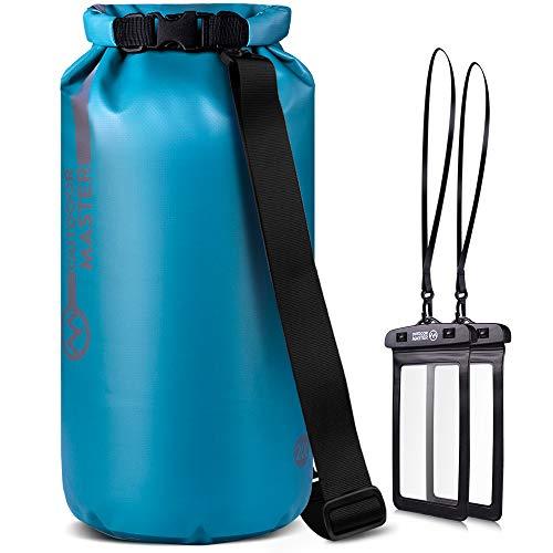 OUTDOORMASTER一年保証 ドライバッグ 防水バッグ プールバッグ 10L 20L 30L 40L 大容量 防災バッグ アウトドア用 スマホ用 防水ケース 二つおまけ 収納バック 防水 収納袋 防水リュック 防水ポーチ付 旅行袋