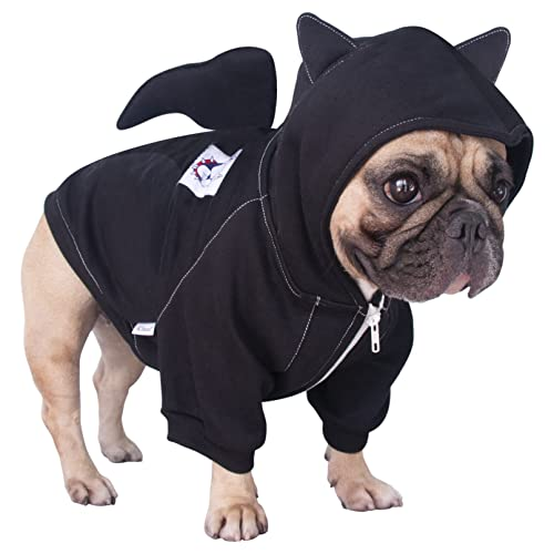 iChoue Bat Dog Halloween Costumes Medium Large Clothes Boy Girl Shirt Sweater Cute Funny for French Bulldog Cold Weather Winter Coats Hoodies Frenchie English Pug Pitbull Corgi Puppy - XL