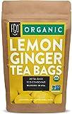 Organic Lemon Ginger Tea Bags | 20 Tea Bags | Eco-Conscious Tea Bags in Kraft Bag | by FGO