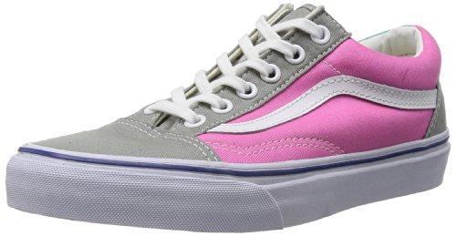 Vans I OLD SKOOL VD3AY28 Unisex - Kinder Halbschuhe, Mehrfarbig (Grau/Pink), 38 EU