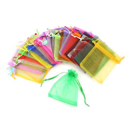 sachets cadeaux Aipudun Lot de 50 sachets en organza pochettes /à bijoux multicolores