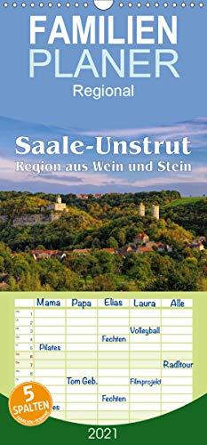 Saale-Unstrut - Region aus Wein und Stein - Familienplaner hoch (Wandkalender 2021, 21 cm x 45 cm, hoch)