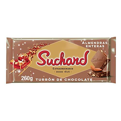 Suchard Turrón De Chocolate Con Leche Y Almendras Enteras Navideño - Tableta De G, Navidad Y Fiestas, 260 G