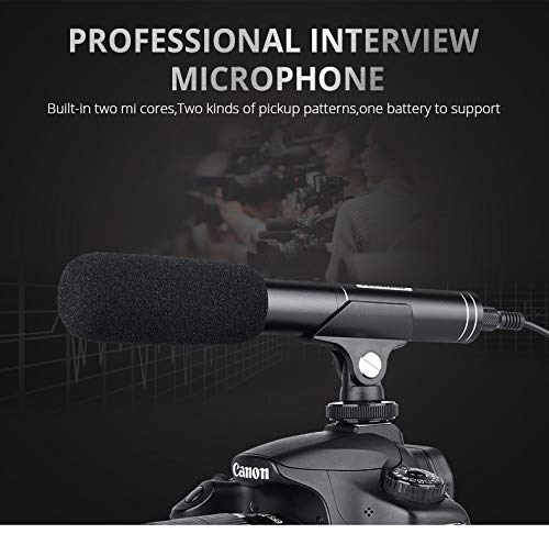 Metermall Electronics For Professional Interview Microphone Photography Shotgun Mic Video Camcorders Mike for Canon/Nikon/Sony DSLR Camera