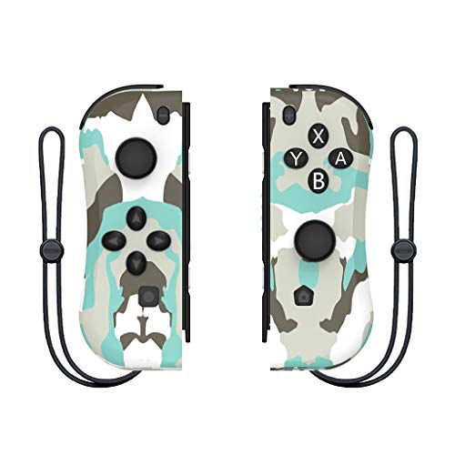 WHAEOSKH NS JoyCon Left & Right Controller Replacement Joypad Game handle Compatible for NS Nintendo Switch (Multi color) (Camouflage)