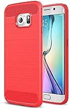 جراب Galaxy S6 Edge مع مقاومة للصدمات وتصميم من ألياف الكربون لهاتف Galaxy S6 Edge