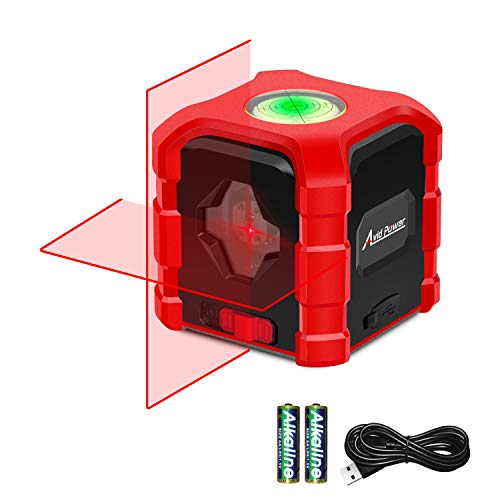 Avid Power Laser Level Self Leveling Cross Line Laser Level for Construction Vertical and Horizontal Line Lasers with Bubble Level