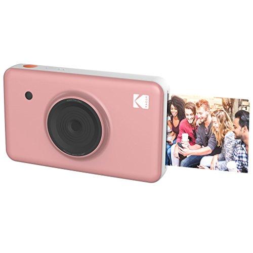 Kodak Mini Shot - Impresiones inalámbricas de 5 x 7.6 cm con 4 Pass, tecnología de impresión patentada, cámara digital de impresión instantánea 2 en 1, rosa