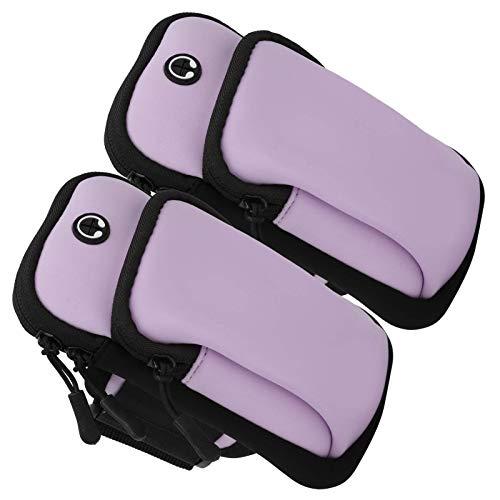 Brazalete deportivo, bolsa de brazo de ejercicio con cremallera suave de doble gancho 2 piezas, para correr yoga