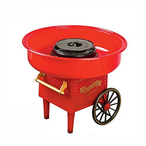 Genera - DIY Máquina de Algodón de Azúcar,Máquina Americano Retro Cotton Candy 220v/500w Estilo Hong Kong Vintage Acero inoxidable Regalosdel Día del Niño