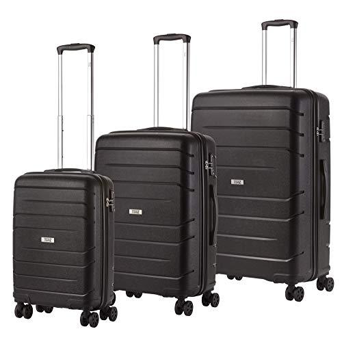 TravelZ Big Bars Juego de maletas - negro