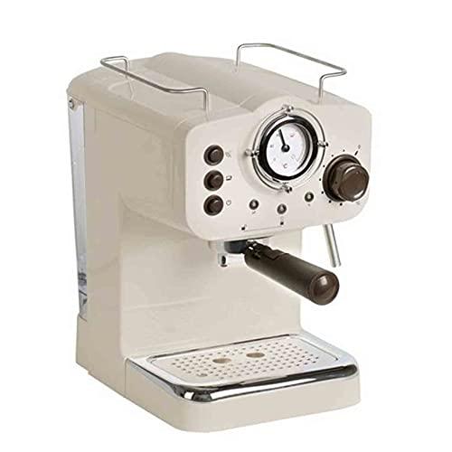 Ekspres do kawy Przelewowy ekspres do kawy Programowalny ekspres do kawy Mały półautomatyczny parowy spieniacz do mleka odpowiedni do parzenia kawy (Kolor : Biały, Rozmiar : Jeden rozmiar)
