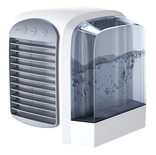 Aria Airconditioning, draagbaar, mini-airconditioning, 3-in-1 mini-luchtkoeler, USB-aansluiting, 3 standen, airconditioning, draagbaar, voor slaapkamer, Appartation Home Camping Zwart