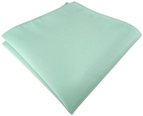 TigerTie Einstecktuch in mint grün einfarbig Uni Rips gemustert