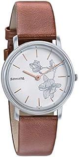 سوناتا سيلفر لاينينج ، مقاومة للماء، ميناء أبيض، ساعة نسائي