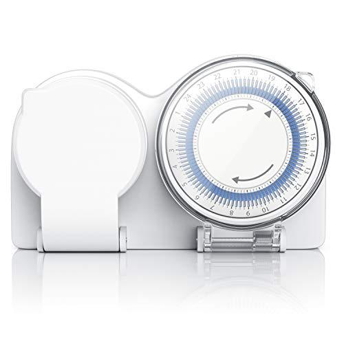 CSL-Computer Zeitschaltuhr für den Außenbereich Timer - Outdoor Timer - Mechanischer Steckdosen-Schaltuhr mit 6 Schaltsegmente - Einstellung in 15-Minuten-Schritten - 3680W -