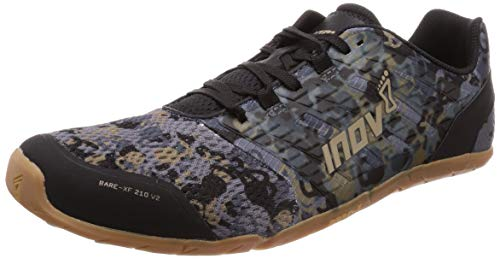 Inov-8 Bare XF 210 V2 - Barefoot Minimalist Shoes - Zero Drop - Versatile Everyday - Grey/Gum 9.5 M US
