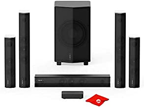 Enclave THX Certified CineHome Pro 5.1 CineHub Edition Wireless Audio Home Theater Surround Sound System 24 Bit Dolby Digital & DTS, WiSA Certified Bundle with Circuit City Microfiber Cloth