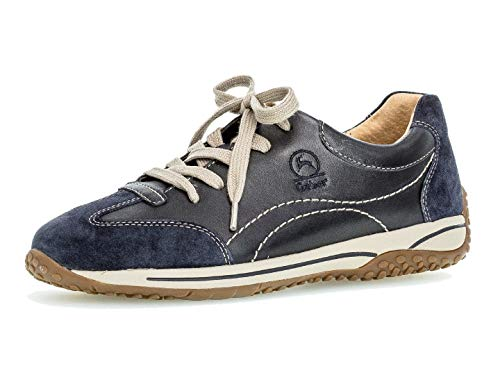 Gabor Damen Sport-Halbschuh 36.385, Frauen Low-Top Sneaker,Halbschuh,Schnürschuh,Strassenschuh,Business,Freizeit,Ocean/Midnight,38 EU / 5 UK