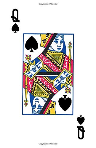 Notebook: [Cover Art Collection/Playing Card 51 (Queen of Spades)]