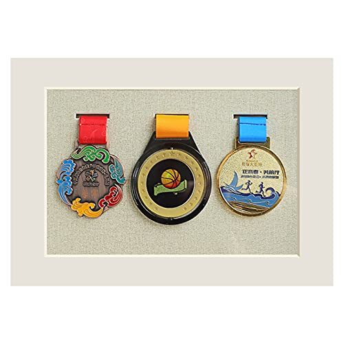 Marco para exhibición de medallas,Expositor de medallas,Caja de Almacenamiento de Insignias con Marco de Fotos Tridimensional,Madera Maciza,A3 / A4 / 7 Pulgadas