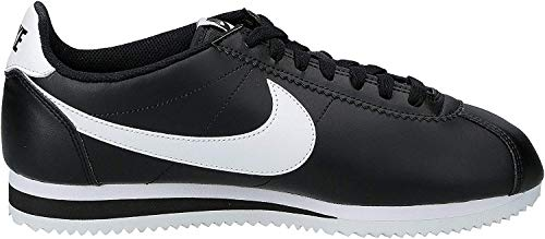 Nike Damen Wmns Classic Cortez Leather Turnschuhe, Bianco, 36,5 EU, Schwarz (Black / White-White), 38 EU