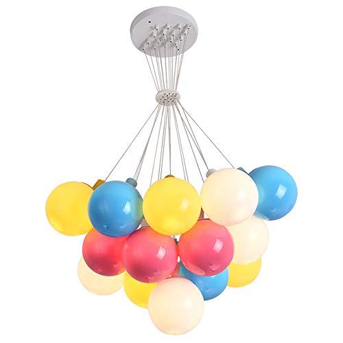 Kroonluchter, kleurrijk, ballon, ontvangstlamp, led, kinderkamer, 17 lichtbescherming, in hoogte verstelbaar, geschikt voor slaapkamer, restaurant, tuin, kinderen