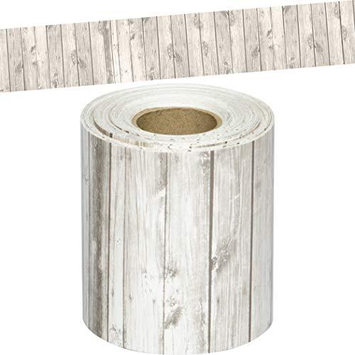 White Wood Straight Rolled Border Trim