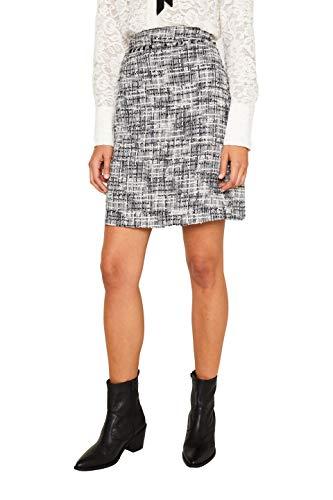 ESPRIT Collection Damen 109EO1D016 Rock, Schwarz (Black 001), (Herstellergröße: 38)